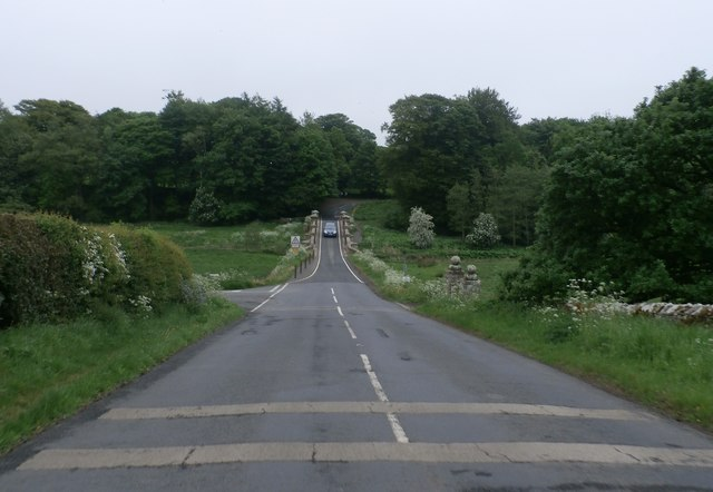 The B6342 near Wallington