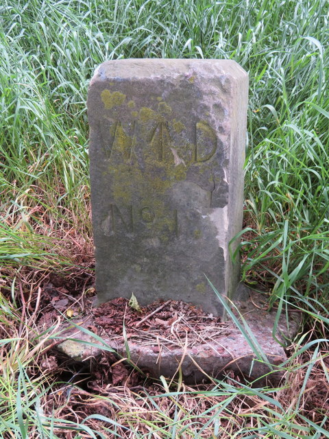 Chester Castle perimeter War Department Boundary Stone #18
