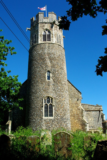 Round tower to St Peter's Church