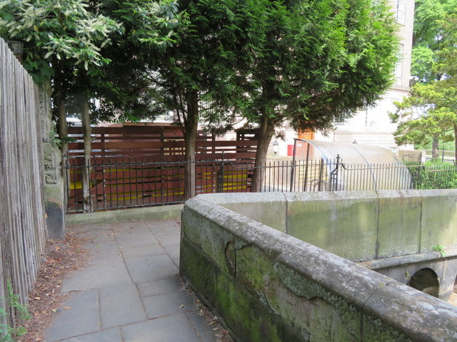 A corner in the city walls and War Department boundary stone #24