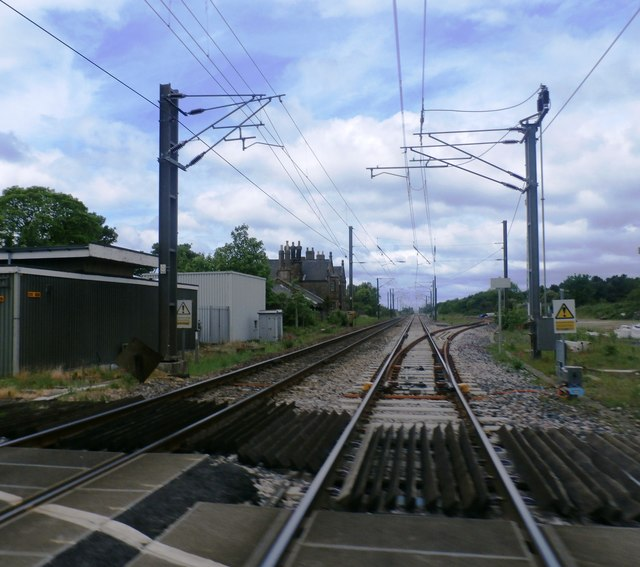 Railway at Belford Level Crossing