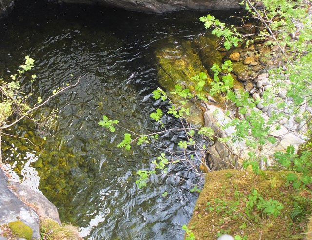Pool below Ach-mhairc Bridge, Glen Tilt