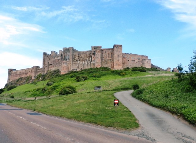 Roads below Bamburgh Castle