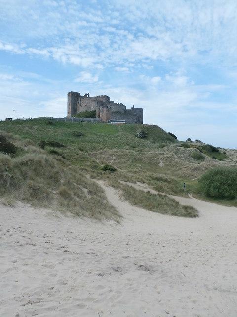 Dunes below Bamburgh Castle