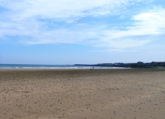 The beach at Seahouses
