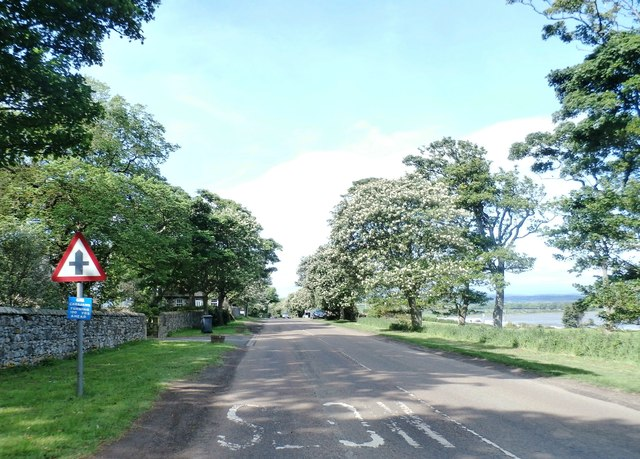 Road near Budle Hall