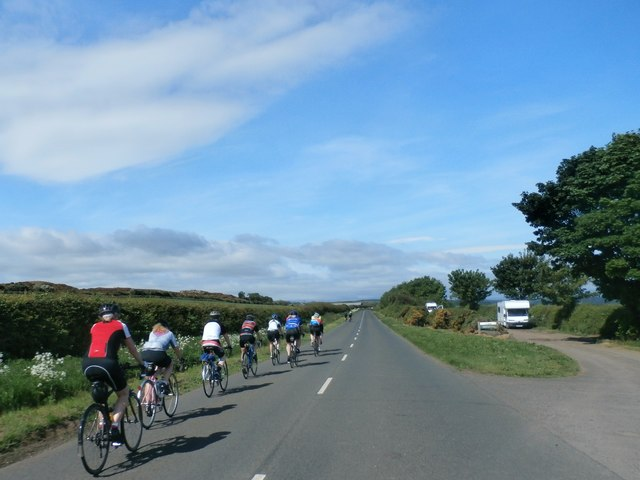 Cyclists near Harper's Heugh
