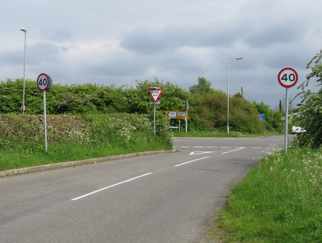 Rogue's Lane/Ashby Road/Hinckley Road crossroads