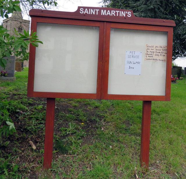 Church noticeboard