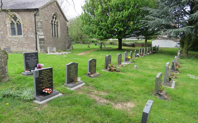 Fronts of gravestones in St Martin Stapleton churchyard