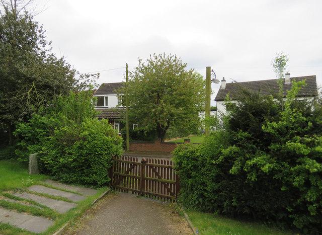 Gate from church yard to Church Lane Stapleton
