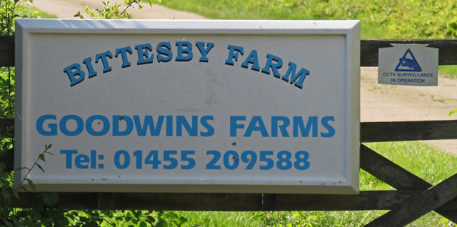 Bittesby Farm/Goodwins Farms sign