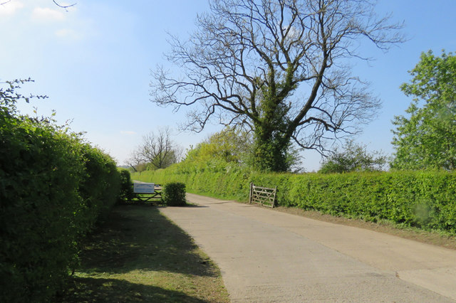 Entrance and driveway to Bittesby Farm