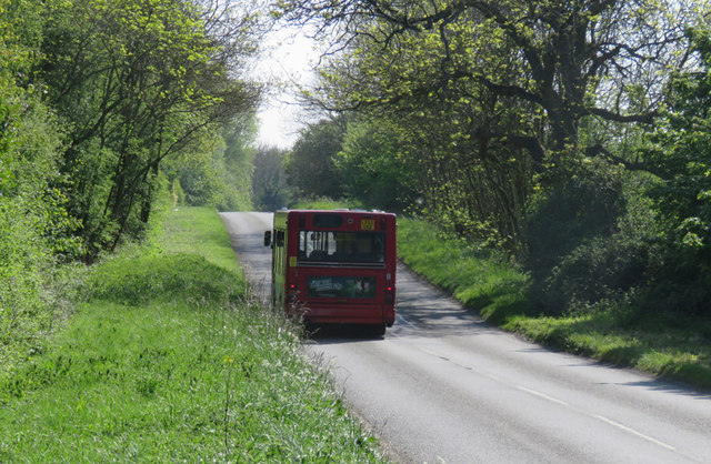 Number 8 bus on Mere Lane going towards A5