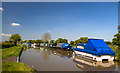 SJ4861 : Shropshire Union Canal - moorings at Golden Nook (3) by Mike Searle