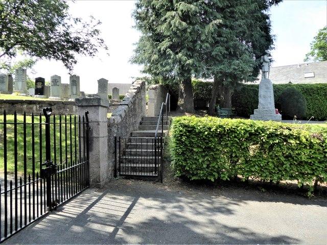 Steps to War Memorial in Kirkton of Tough