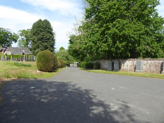 Kirkyard roadway, Kirkton of Tough