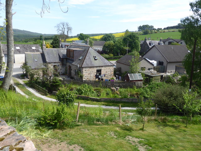 View of some of the houses in Kirkton of Tough