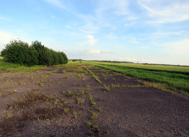 Former taxiway at former RAF Melton airfield