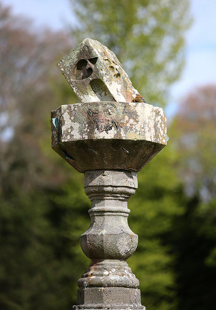 A sundial at Bemersyde House