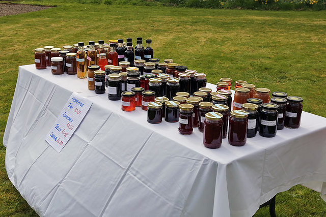 Homemade produce for sale at a Bemersyde House gardens open day