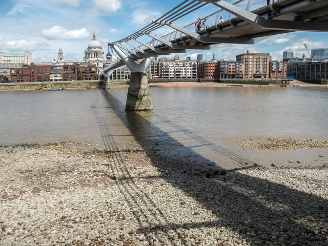 Millennium Bridge from the South Bank, London