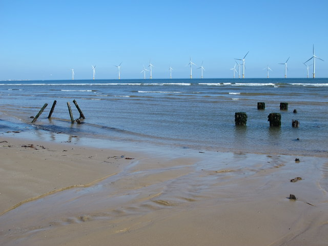 Remains of an outfall on Coatham Sands (2)