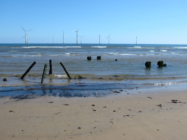 Remains of an outfall on Coatham Sands (3)