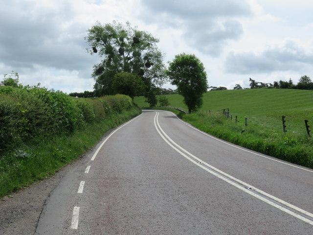 The A456 at Newnham Bridge