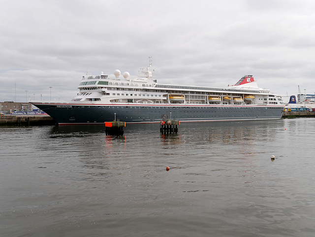 Port of Dublin, Cruise Ship Moored at North Wall Quay
