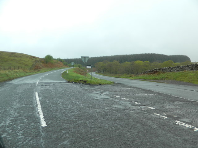 Junction of A701 and B719, north of Moffat