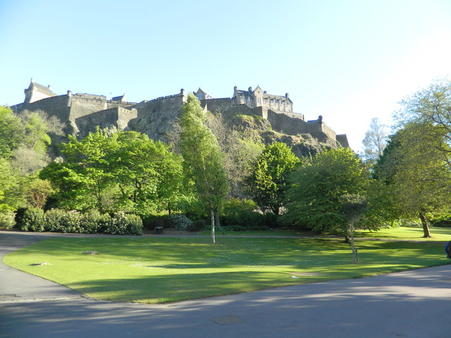 Edinburgh Castle, from Princes Street Gardens
