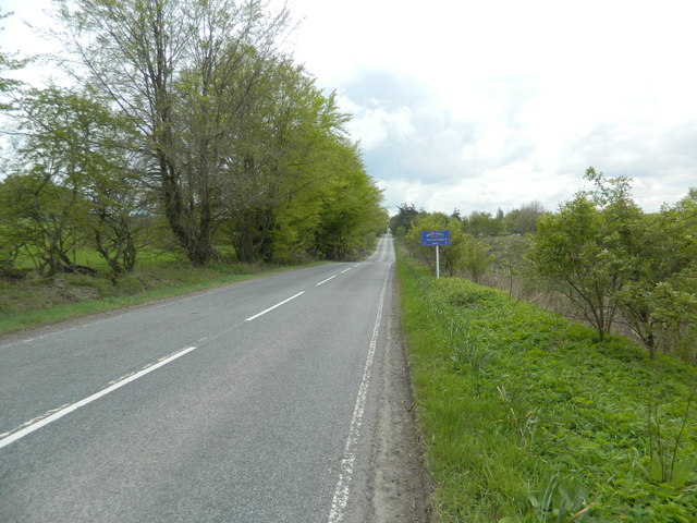 The A701 near Whim Hall