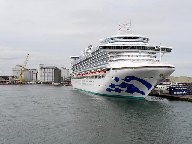 Cruise Liner at Dublin