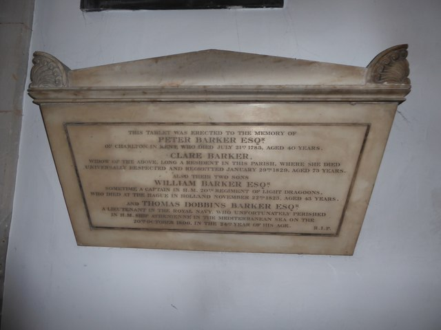 St Mary the Virgin, Mortlake: memorial (b)