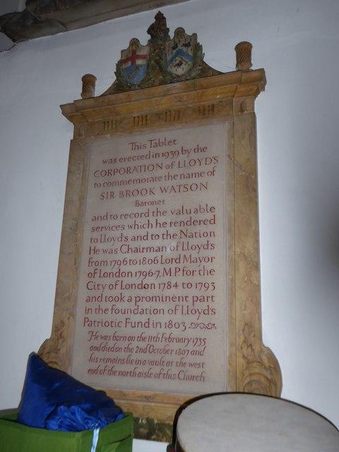 St Mary the Virgin, Mortlake: memorial (f)