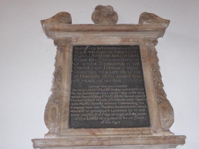 St Mary the Virgin, Mortlake: memorial (l)