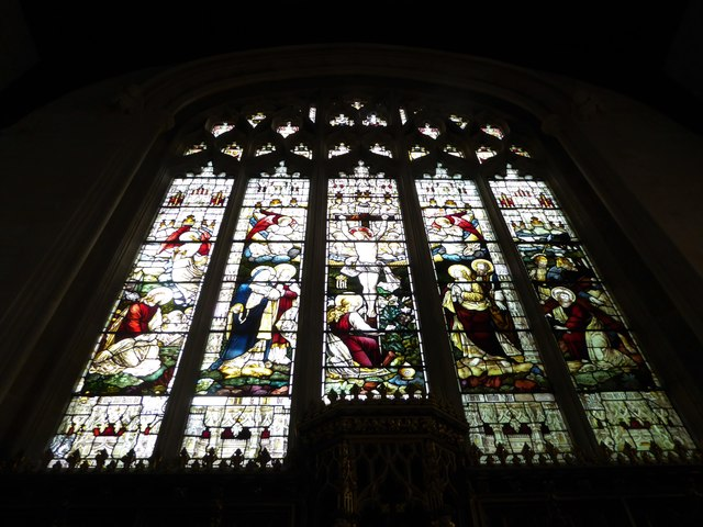 St Mary the Virgin, Mortlake: stained glass window (e)