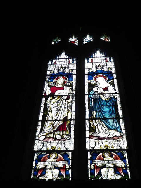 St Mary the Virgin, Mortlake: stained glass window (f)