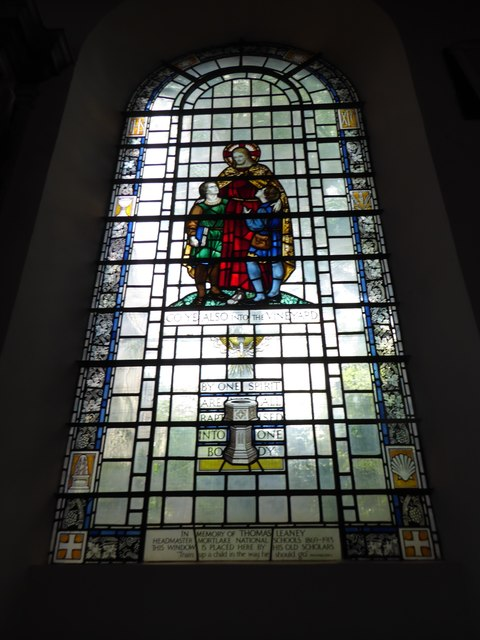 St Mary the Virgin, Mortlake: stained glass window (g)
