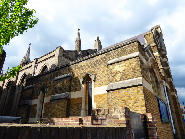 St John the Divine, Richmond: rear