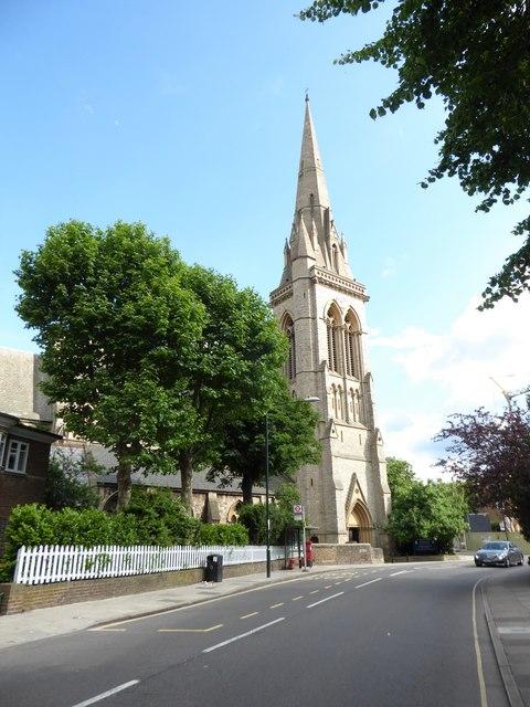 St Matthias, Richmond: spire