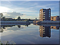 SK5838 : Trent Basin on a June evening by John Sutton