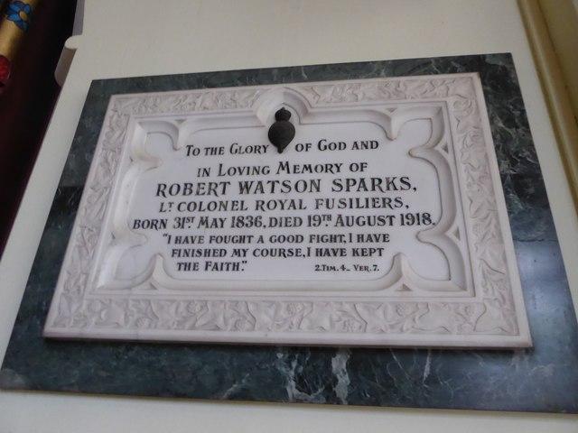 Holy Trinity, Richmond: memorial (i)