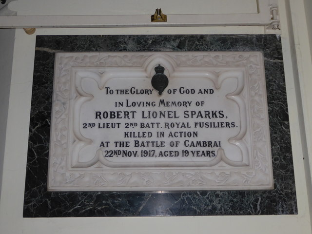 Holy Trinity, Richmond: memorial (iii)