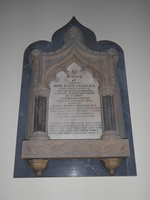 Holy Trinity, Richmond: memorial (iv)