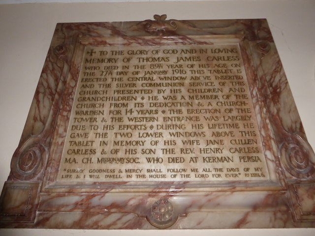 Holy Trinity, Richmond: memorial (ix)