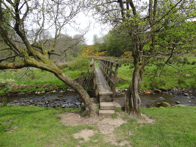 Footbridge over the River Brock