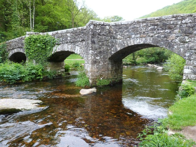 Fingle Bridge over the River Teign near Drewsteignton