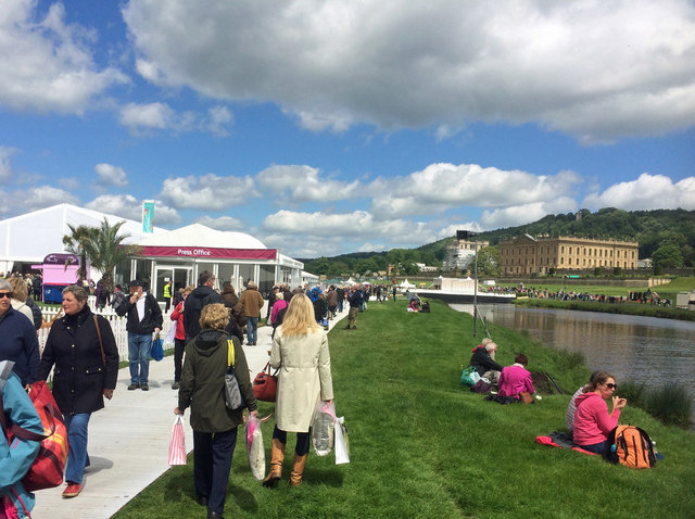 The rain and high winds have gone on the first day of the RHS Chatsworth flower show